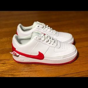 NIKE Air Force 1 Jester ' WHITE-UNIVERSITY RED '